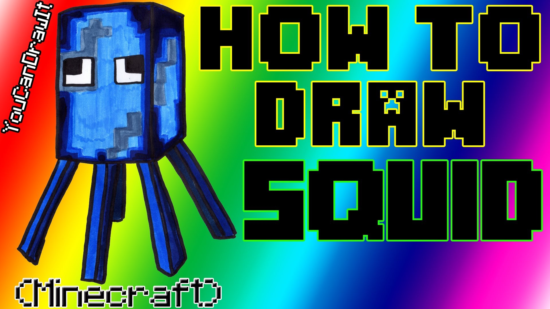 1920x1080 How To Draw Squid From Minecraft Youcandrawit 1080p Hd