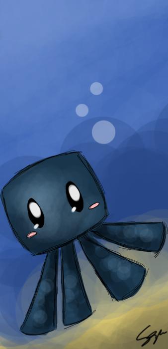 338x700 Minecraft Babby Squid 3 By Sayuri Amaya