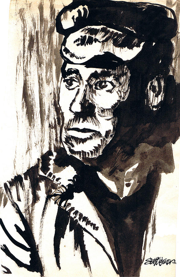 587x900 British Coal Miner Drawing By Seth Weaver