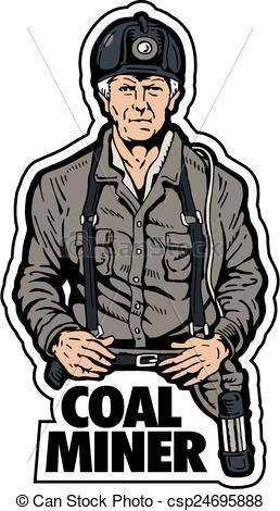 258x470 Coal Miner Logo Design Vector