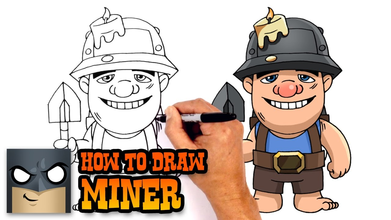 1280x720 How To Draw Miner Clash Royale