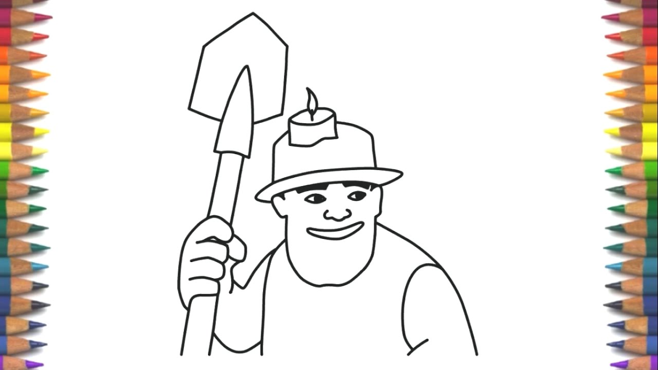 1280x720 How To Draw Miner Clash Royale Step By Step