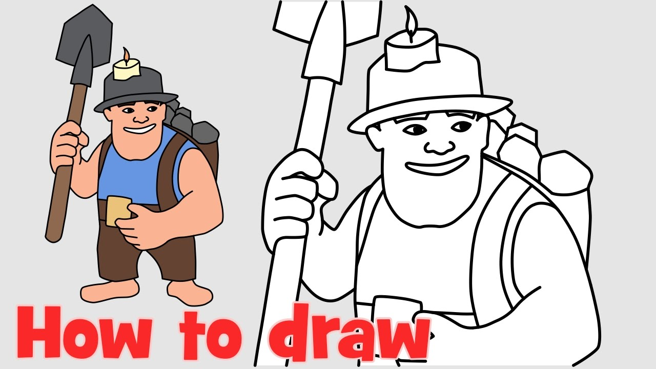 1280x720 How To Draw Miner From Clash Of Clans New Troops Coc Characters