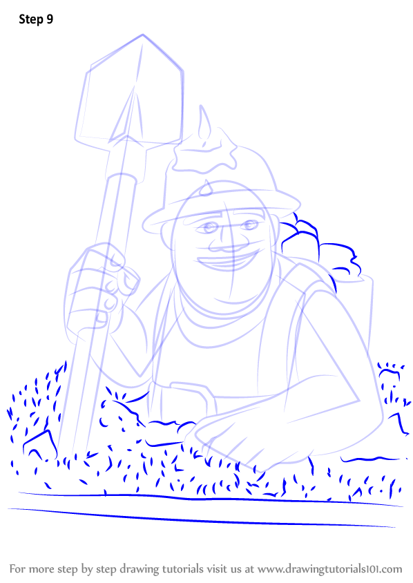 598x844 Learn How To Draw Miner From Clash Clans (Clash