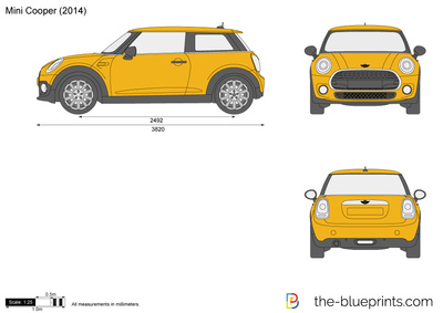 400x283 Mini Cooper Vector Drawing