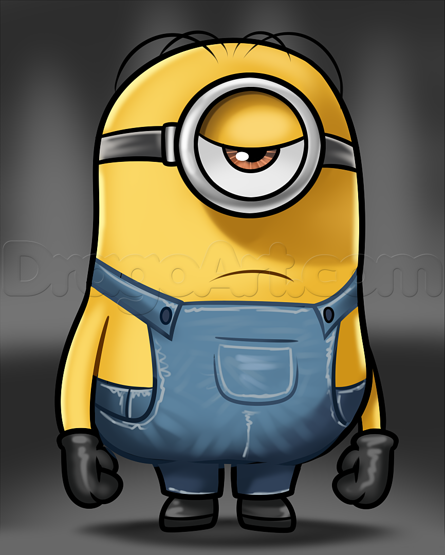 866x1080 How To Draw Stuart From Minions, Step By Step, Characters, Pop