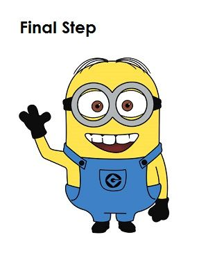 300x388 How To Draw A Minion Step 20 Drawing Diy Drawings