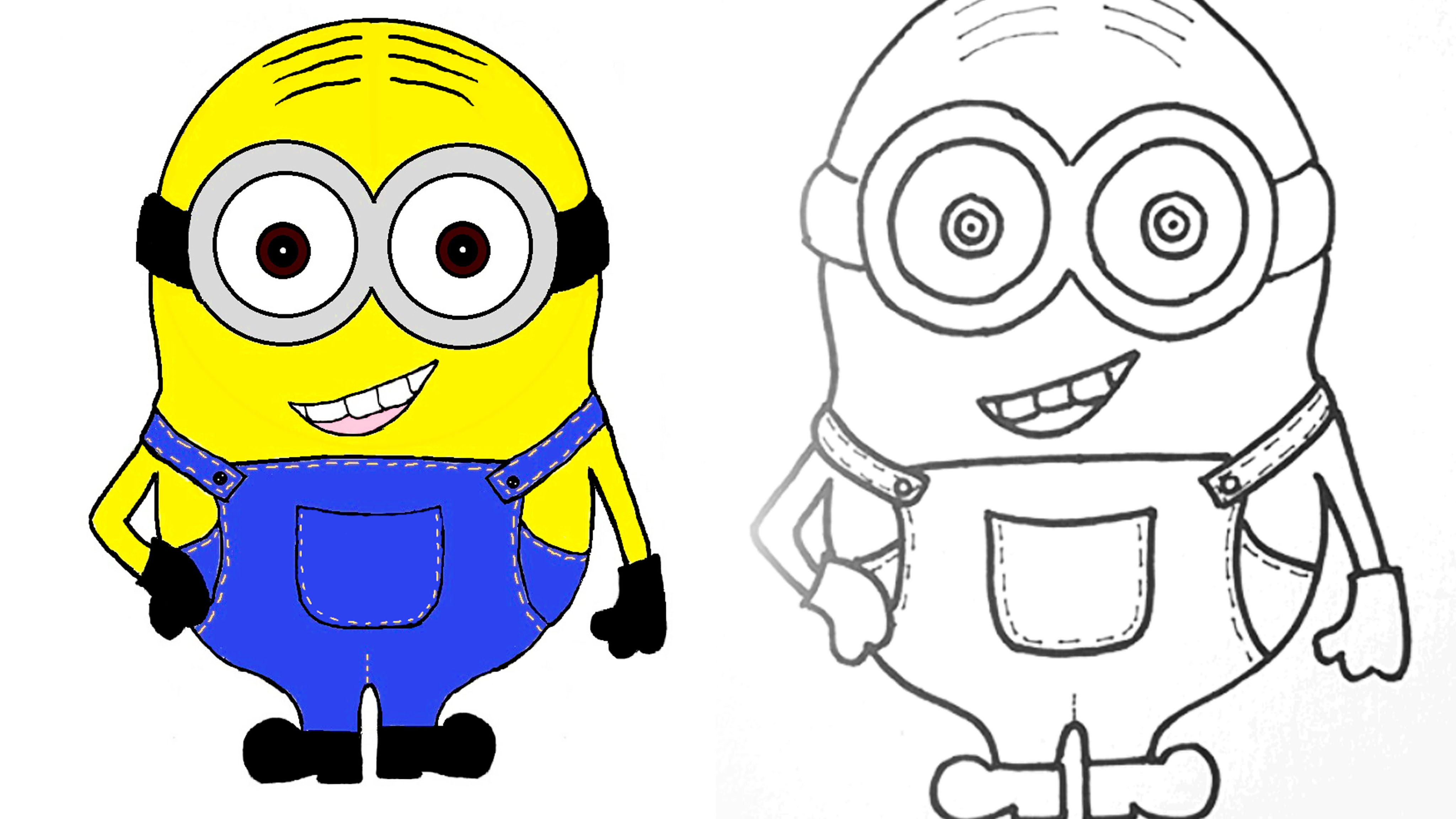 4096x2304 Minion How To Draw And Color A Minion Step By Step
