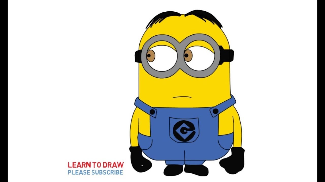 1280x720 How To Draw Minion Dave Step By Step Easy For Kids