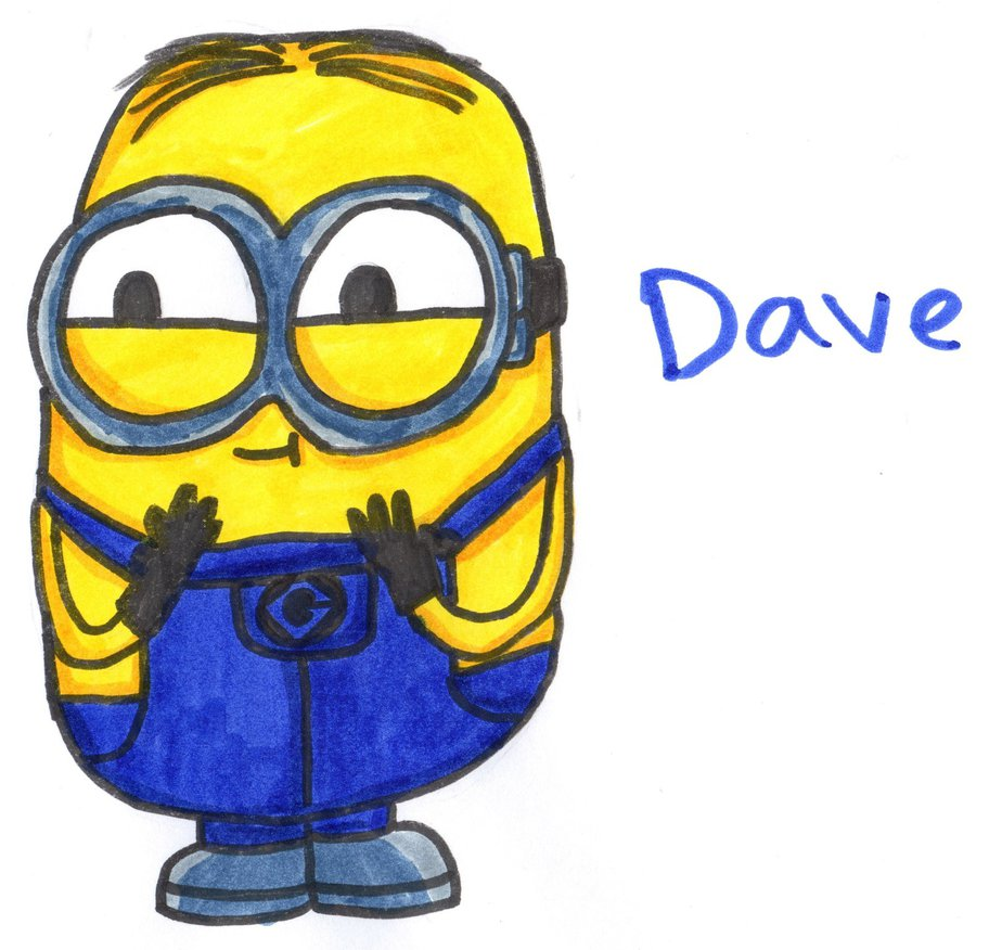 912x876 Minion Dave By Youcandrawit