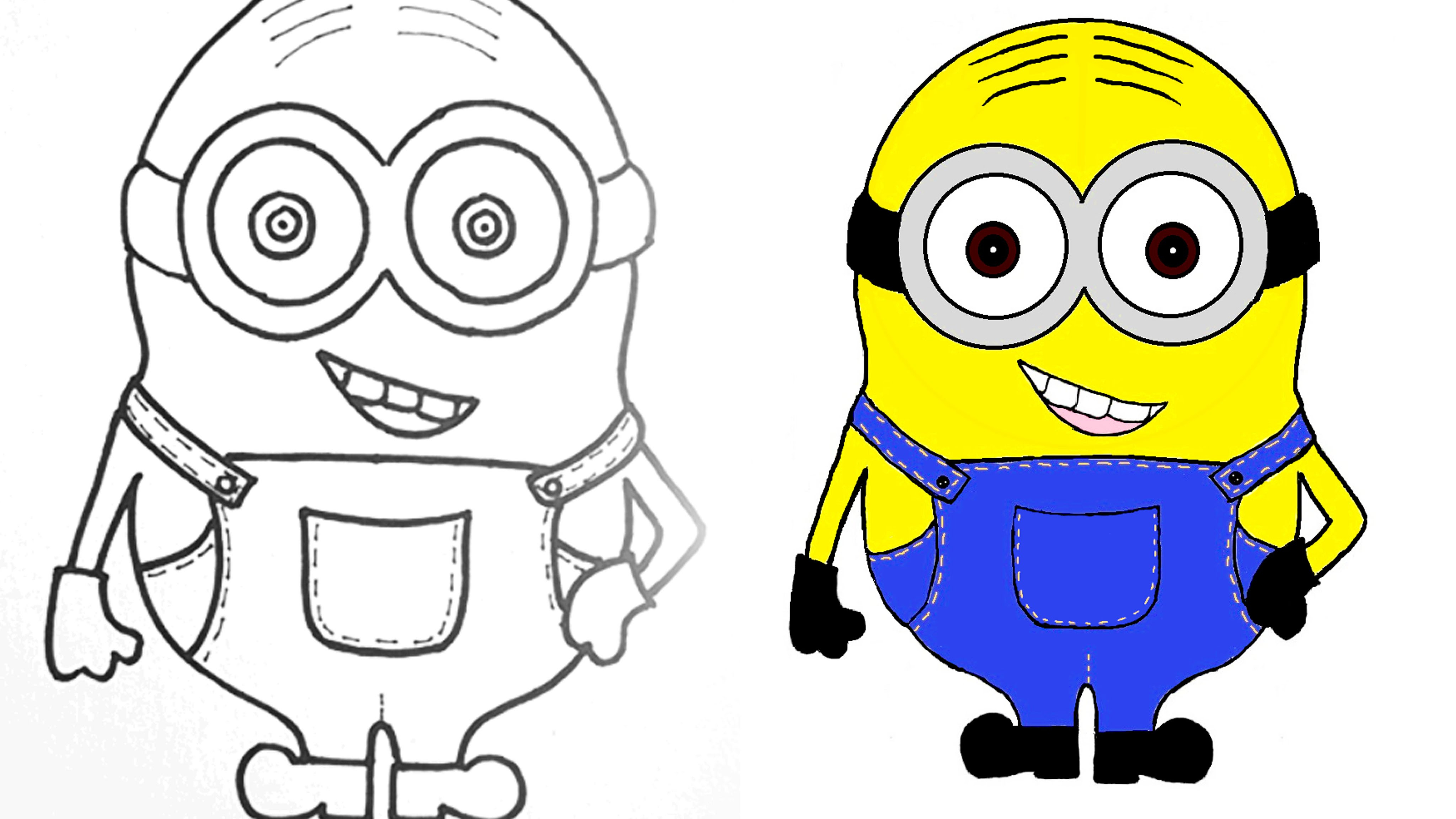 4096x2304 Cartoon Minion Drawing Minion How To Draw And Color A Minion