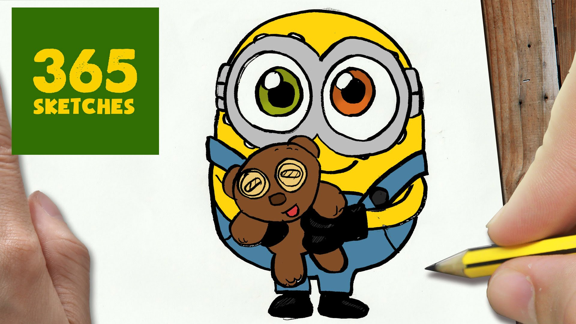 1920x1080 HOW TO DRAW A BOB MINION CUTE Easy Step By Drawing Lessons