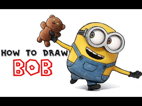 480x360 How To Draw Bob The Minion From Minions And Despicable Me