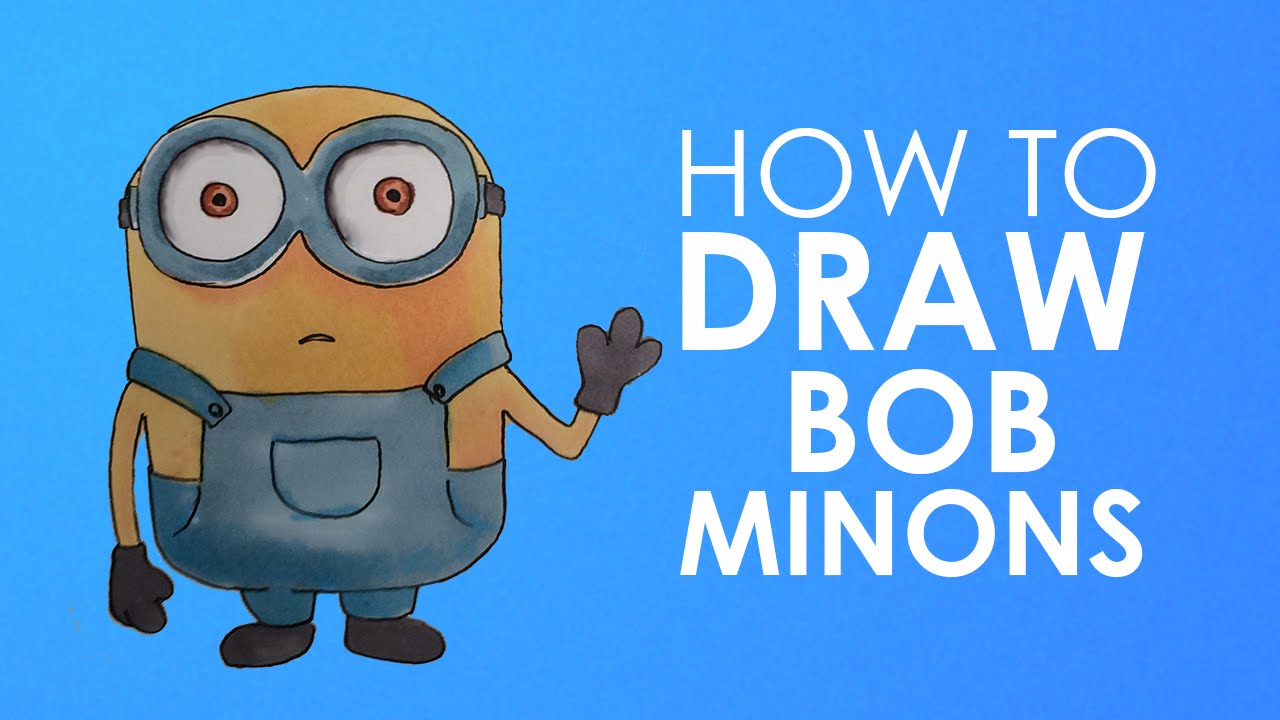 1280x720 How To Draw Bob Minion From Minions Easy Step By Step Video Lesson