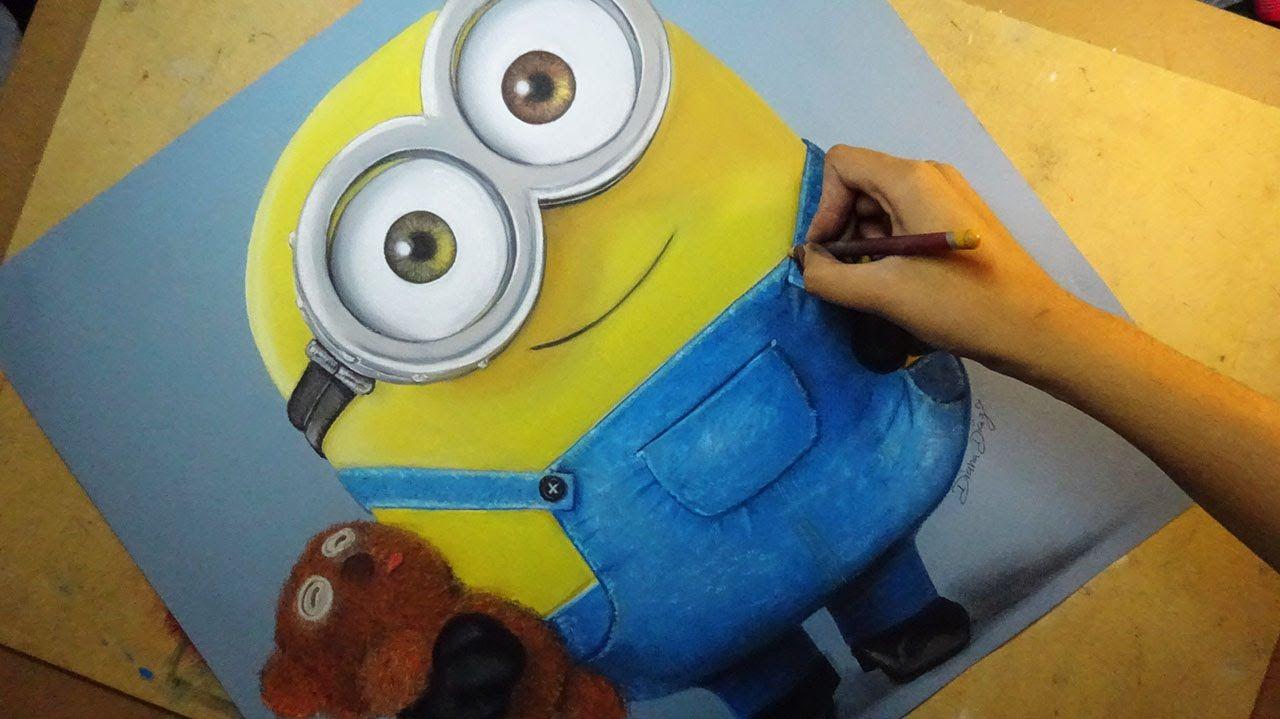 1280x719 Speed Drawing Bob (Minions) Diana A Artes E Artes Tudo O