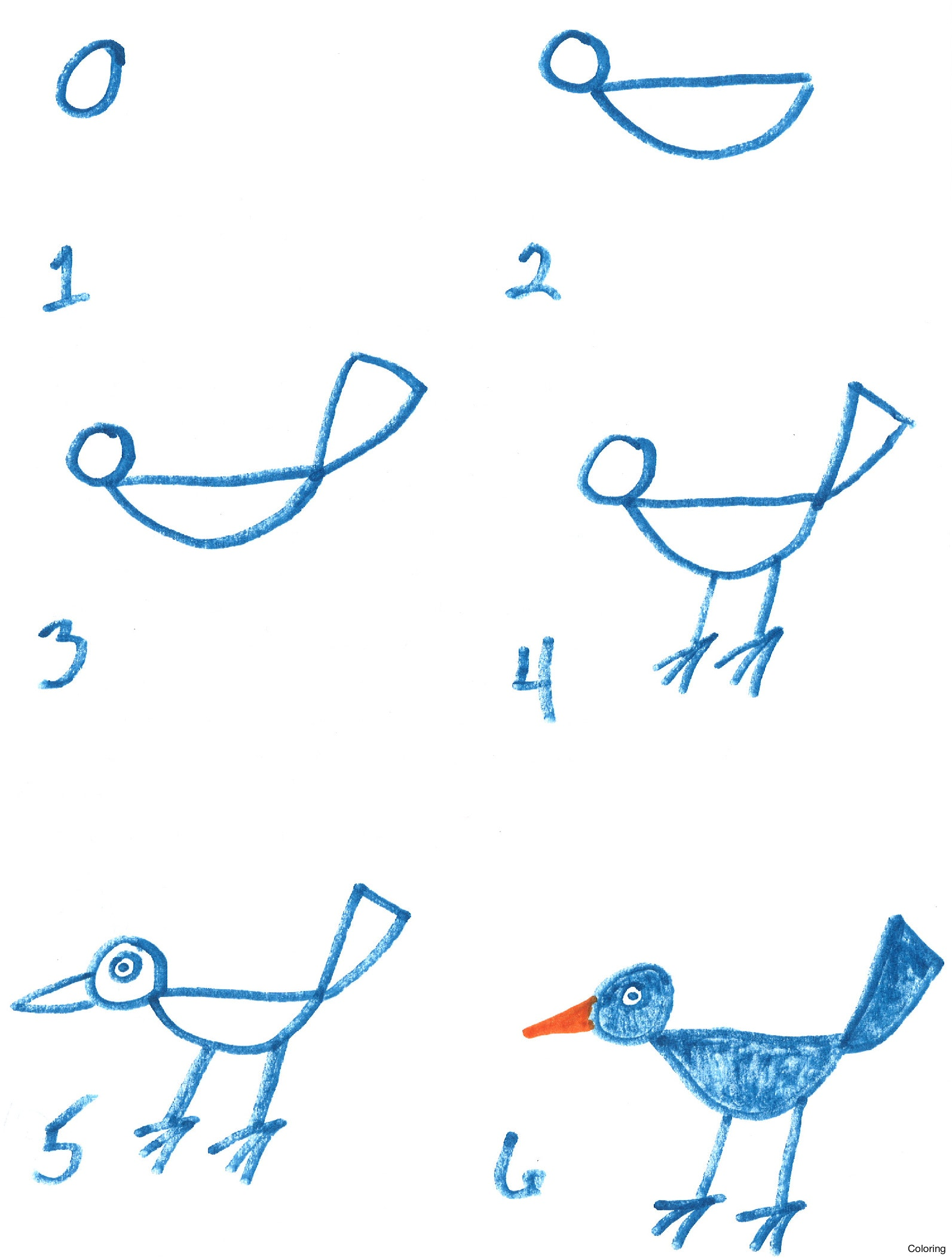 1593x2106 Drawing Of Birds For Kids How To Draw A Bird Youtube Coloring 23f