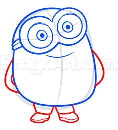 236x261 How To Draw Kevin From The Minions Movie 2015 In Easy Steps Lesson
