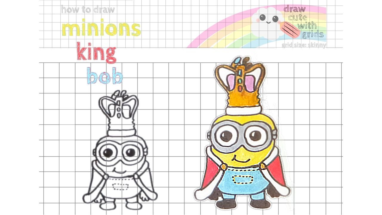 1280x720 How To Draw Minions King Bob Easy Draw Cute With Grids