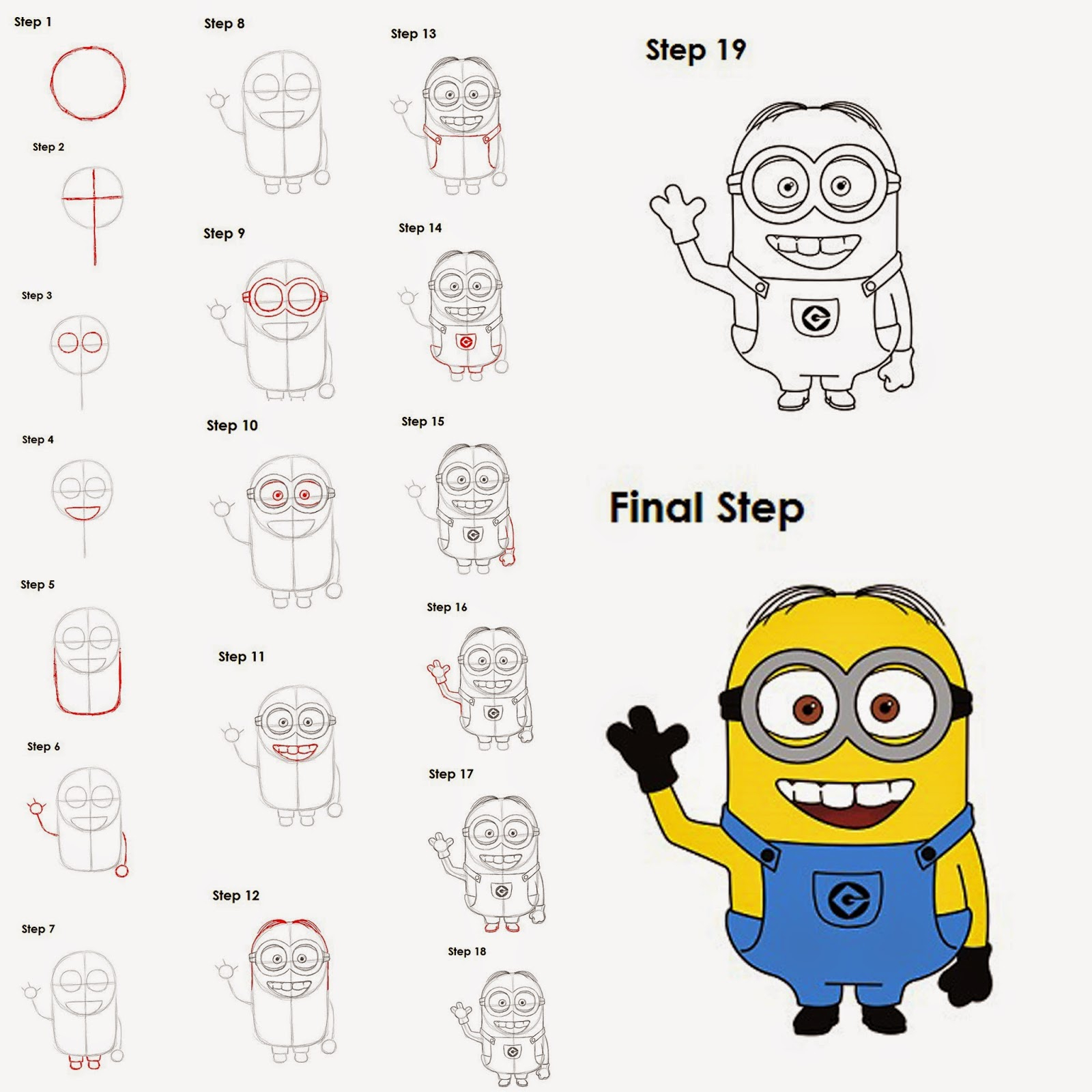 1600x1600 How To Draw Minions Dave Step By Step Easy Drawing For Kids