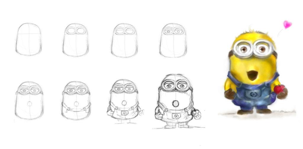 1024x505 How To Draw Minions ^^ By Jadetofu