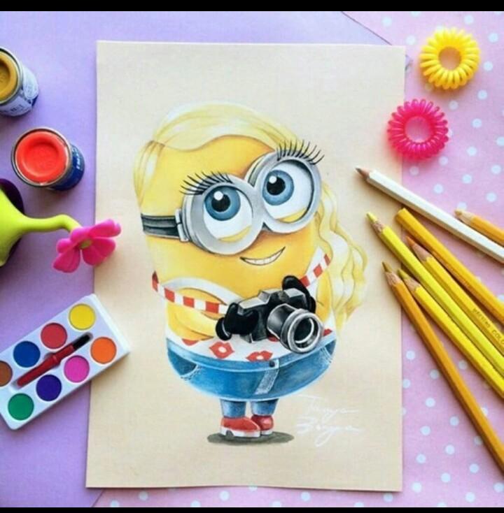 720x734 Cute Girl Minion Mooie Plaatjes Girl Minion