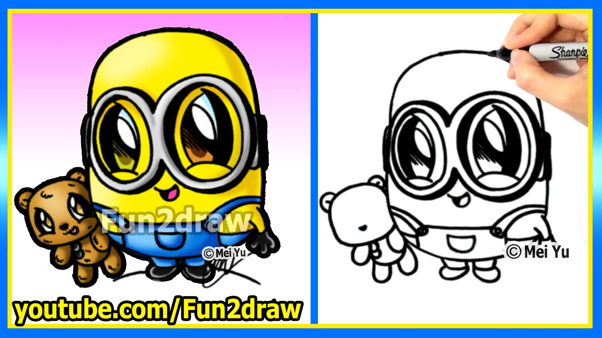 1920x1080 Cartoon Minion Drawing How To Draw A Minion