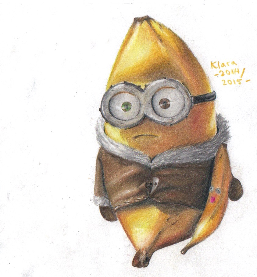 843x911 Colored Pencil Sketch Minion Bob By Minerida On DeviantArt