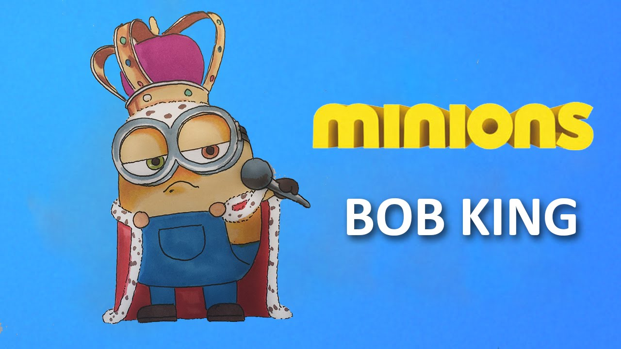 1280x720 How To Draw Bob King Minion From Minions Easy Step By Step Video