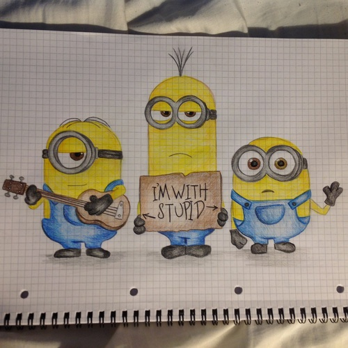 500x500 Minion Drawing By @dada Smile Uploaded By Dada Smile