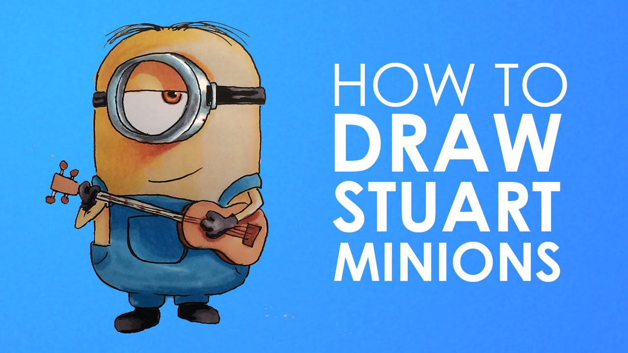 1280x720 How To Draw Sutart Minion From Minions Easy Step By Step Video