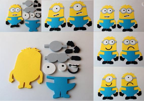 570x401 Minions Die Cuts Diy Kids Crafts Birthday Party Games Diy