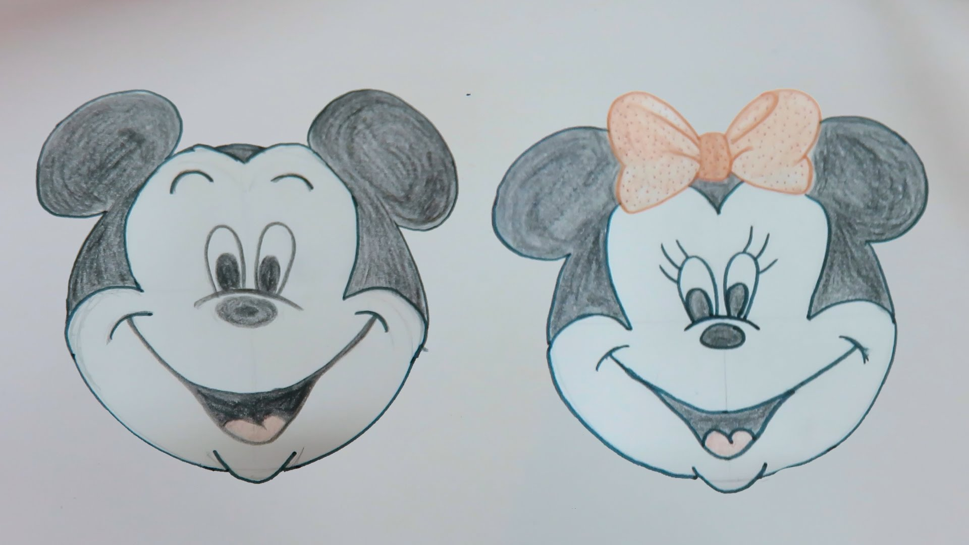 1920x1080 Drawing Tutorial Disney Mickey Mouse Amp Minnie By Playdoh Cap