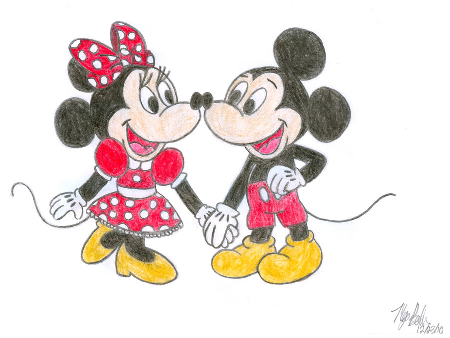 900x676 Minnie And Mickey Mouse By Hugemickeyfan