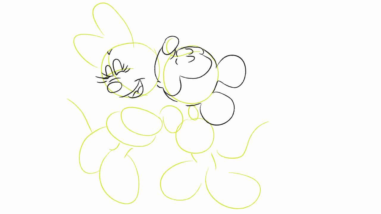1280x720 How To Draw Mickey Mouse And Minnie Mouse