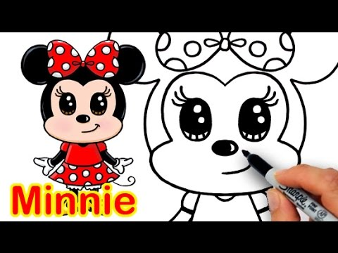480x360 How to Draw Disney Minnie Mouse Cute step by step Easy