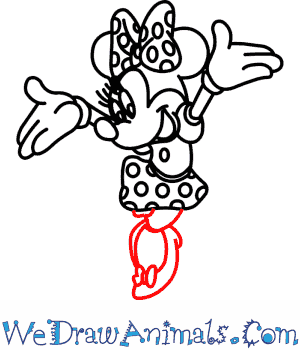 300x350 How To Draw Minnie Mouse