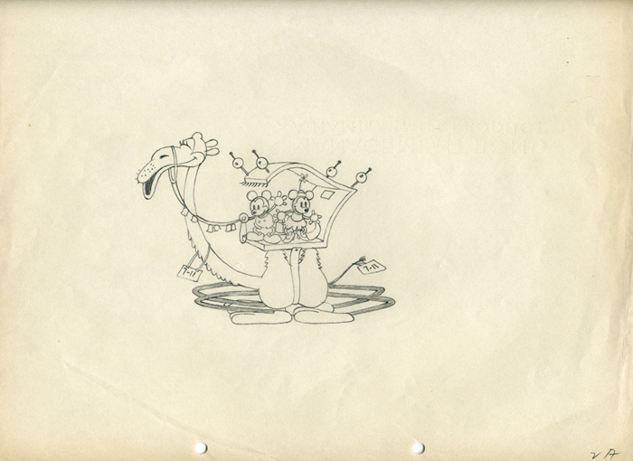700x510 Animation Cel Drawing Mickey Mouse And Minnie Mouse Animation Art