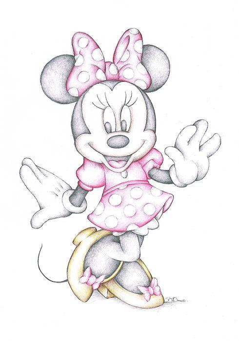 490x700 Disney Cartoon Drawings Disney Cartoon Colour Pencil Drawing