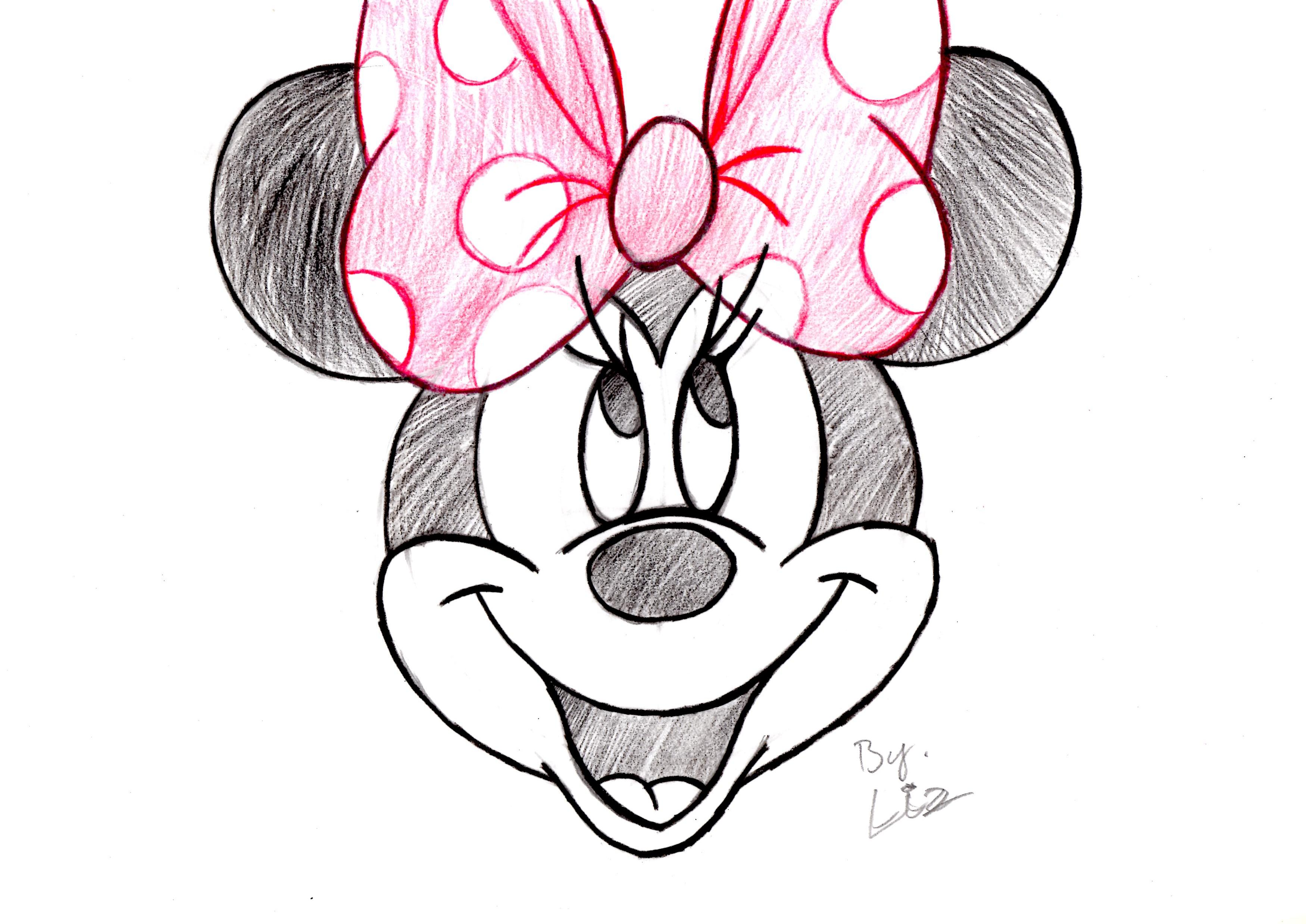 3500x2477 Related Pictures Draw Minnie Mouse Step By Step Minnie Mouse