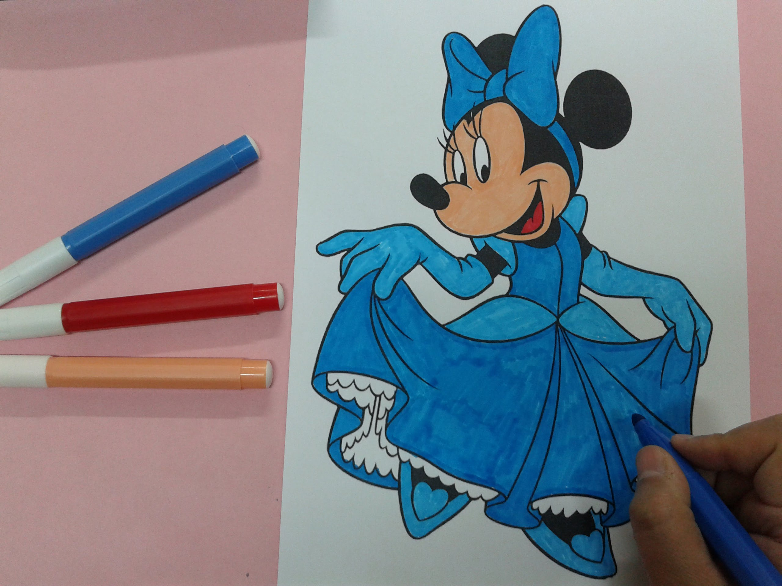 2560x1920 Arts For Kids How To Color Minnie Mouse Looks Like Cinderella