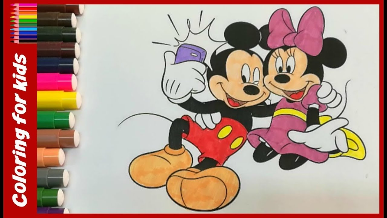 1280x720 Disney Coloring Pages How To Color Mickey And Minnie Mouse