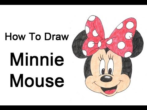 480x360 How To Draw Minnie Mouse ~ Video Tutorial Diy