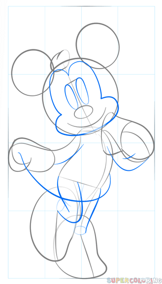 329x575 How To Draw Minnie Mouse Step By Step Drawing Tutorials