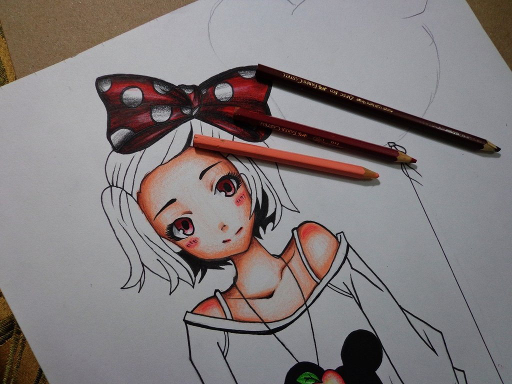 1024x768 Minnie Mouse The Draw 3 By Skullboythe