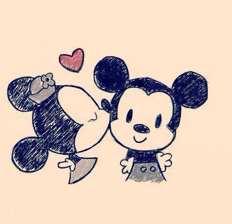 472x454 Mickey And Minnie Disney World Draw, Drawing Ideas