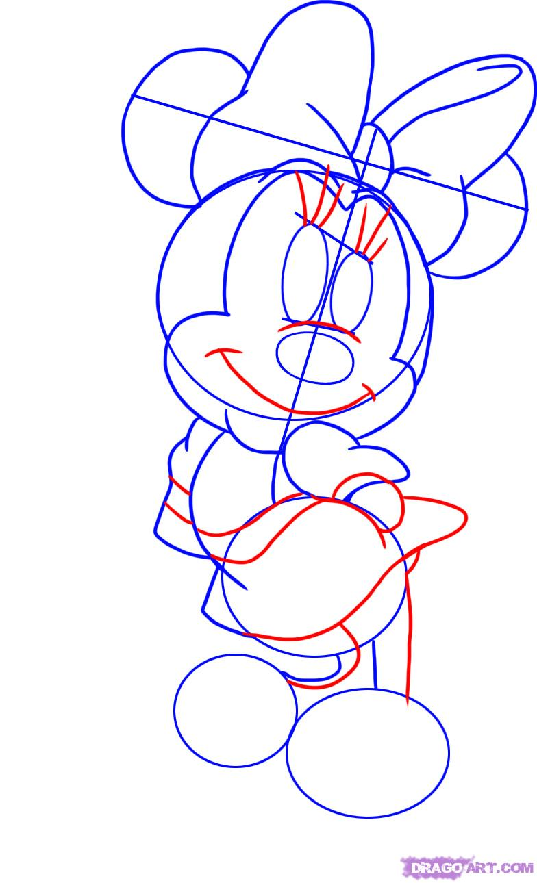 784x1290 How To Draw Minnie Mouse Step 4 Projects To Try