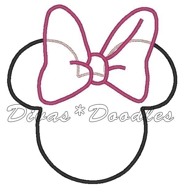 Minnie Mouse Ears Drawing at GetDrawings.com | Free for personal use ...