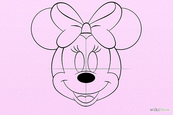550x367 Draw Minnie Mouse Minnie Mouse, Mice And Draw