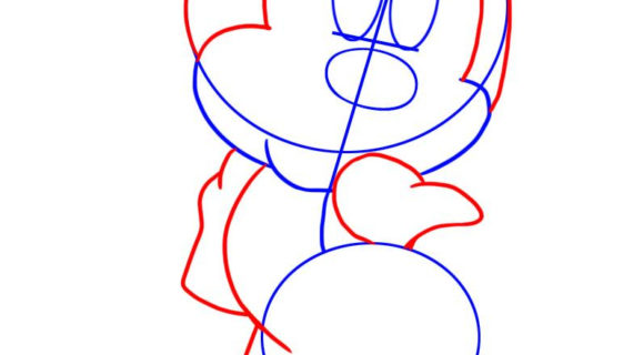 570x320 Minnie Mouse Face Drawing How To Draw Minnie Mouse, Step By Step