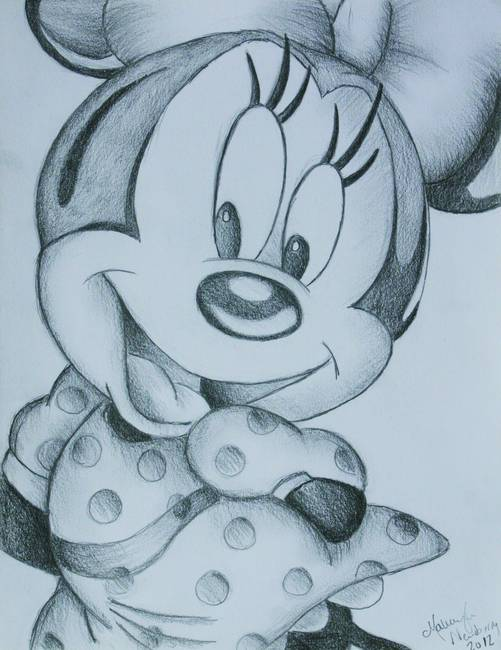 501x650 Gallery Minnie Mouse Pencil Drawing,